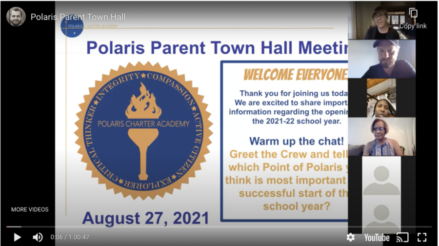 Back to School Parent Town Hall – 8/27/21